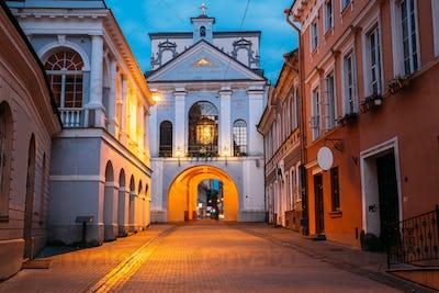 Vilnius Lithuania. Gate of Dawn, Ancient Religious Historical Mo