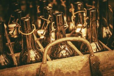 Vintage Glass Bottles.