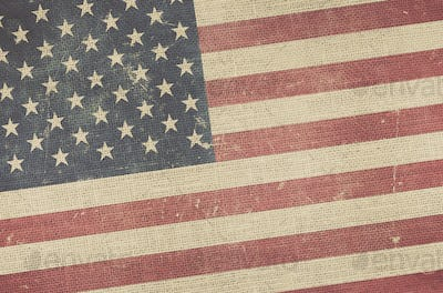 American Flag Canvas Background
