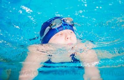 Swimming Girl in the Pool