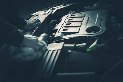 Servicing Car Engine