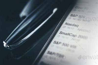 Stock Market Trader Desk