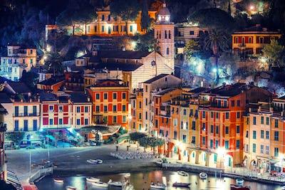 Night in the Portofino Italy
