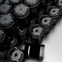 Pile of Crude Oil Barrels