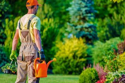 Gardener and His Garden Job