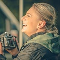 Happy Female Photographer