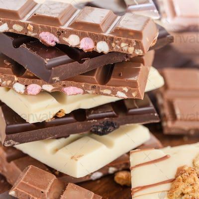 Stack of chocolates