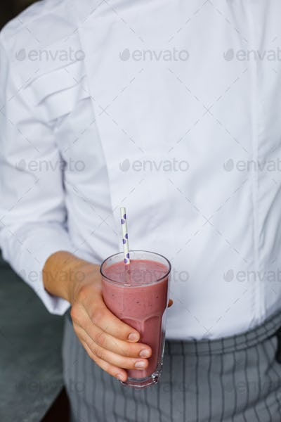 Faceless shot of man with smoothie