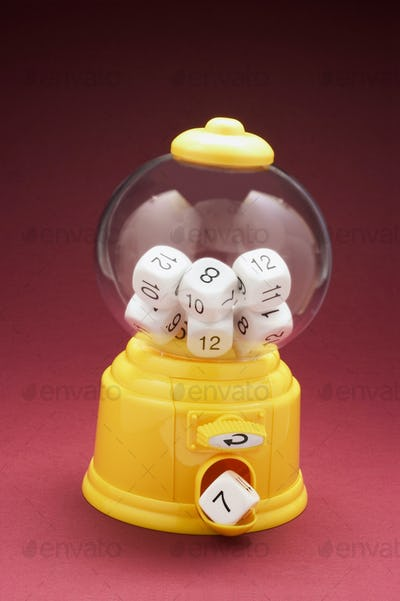 Dice in Bubblegum Machine