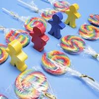 Lollipops with Wooden Figures