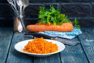 carrot on plate