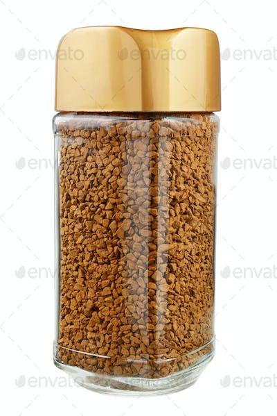 Instant coffee jar