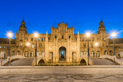 Plaza De Espana in Sevilla,Spain