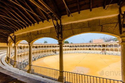 Auditorium view on bullring in Ronda, Spain
