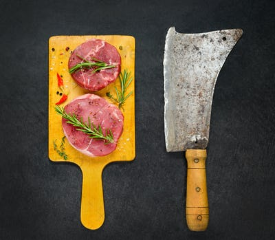 Beef Chops with Meat Cleaver