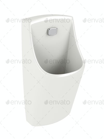 Urinal isolated on white