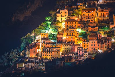 Riomaggiore Night Cityscape
