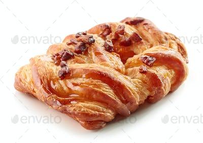 freshly baked pecan bun