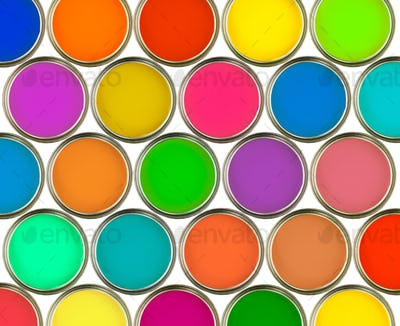 colour full cans
