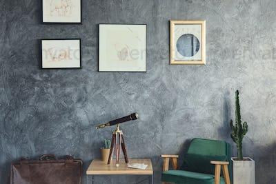 Home decoriation with telescope