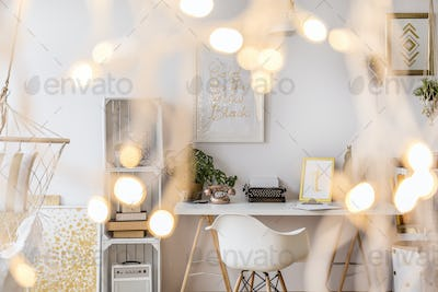 Room with creative lighting