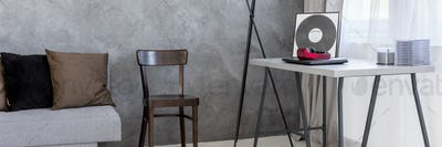 Room interior in minimalistic style