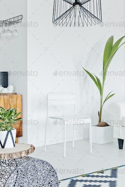 Room designed in scandinavian style