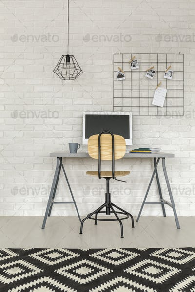 Functional study area with desk