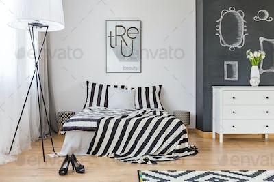 Stylish woman's bedroom