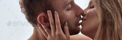 Couple having a kiss