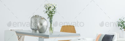 Flower vase on the table