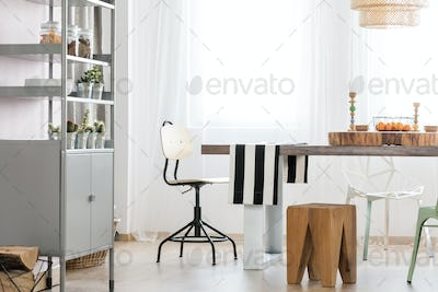 Table in dining area
