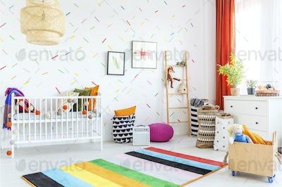 Infant room in scandinavian style