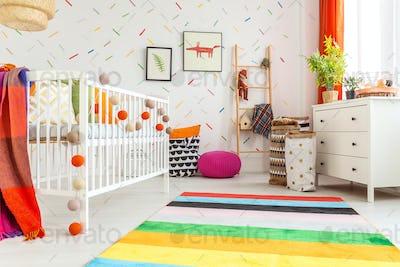 Newborn room in scandi style