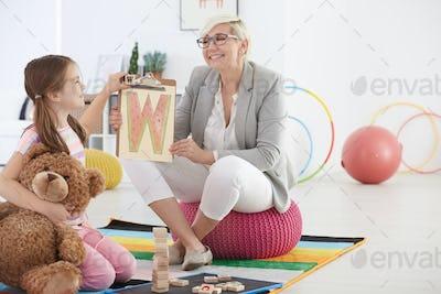 School pedagogue learning by fun