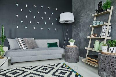 Black cactus wall decor