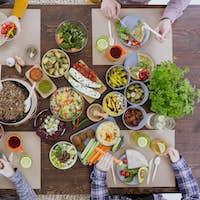 Colorful vegetarian meal