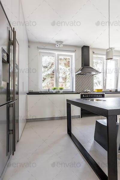 Modern cabinets in kitchen
