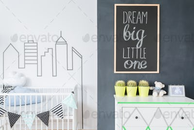 Creative decorations to make a baby room a home