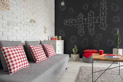 Modern flat with sofa