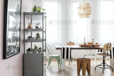 Bright area with dining table