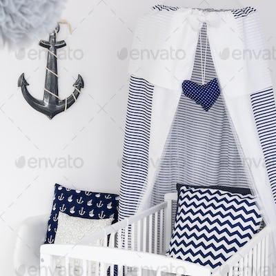 Nautical themed nursery for boy or girl