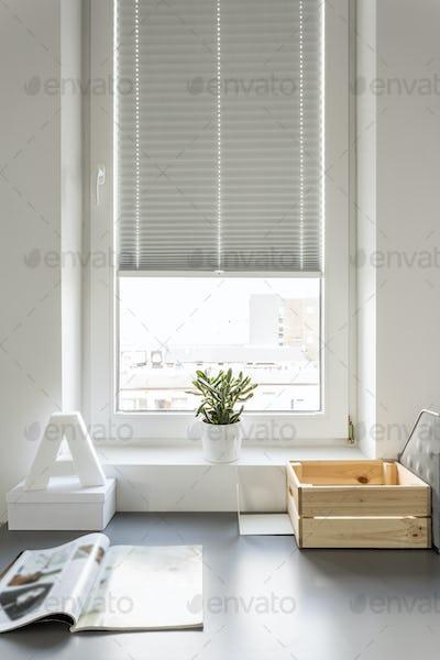 Desk in modern room