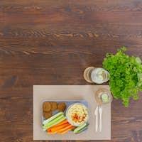 Vegetarian meal with hummus