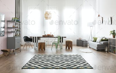 Apartment with dining area