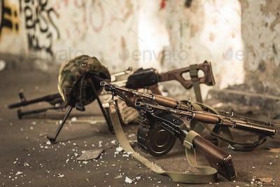 Military automatic guns