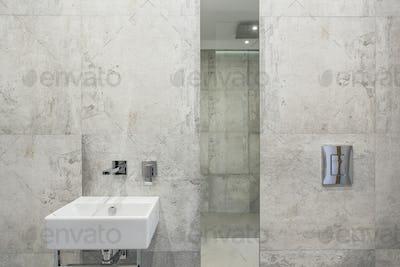 Minimalism in bathroom