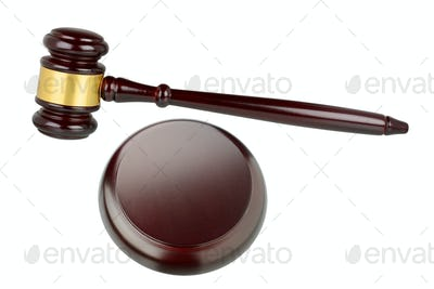 Judges gavel isolated