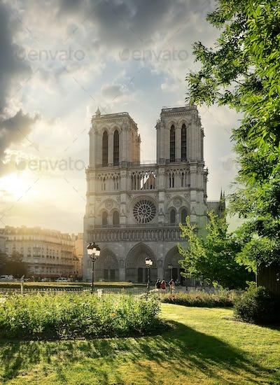 Notre Dame and landscape