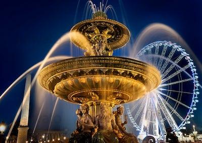 Fountain on square of Concorde